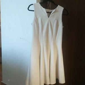 Taylor off white dress